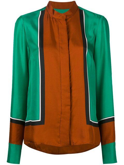 DIANE VON FURSTENBERG Mandarin Neck Shirt. #dianevonfurstenberg #cloth #shirt