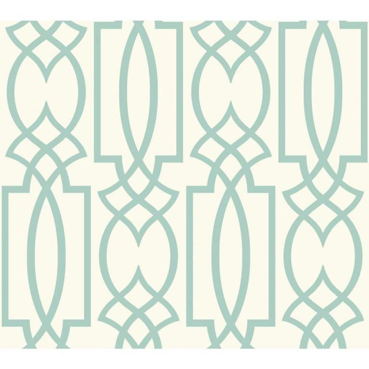Duck-egg blue and cream trellis style wallpaper from the Watercolours collection by Carey Lind Designs, WT4603 by York Wallcoverings. Available through Guthrie Bowron stores in New Zealand.