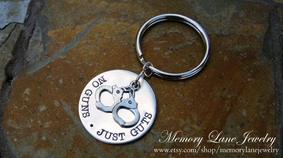 Correctional Officer/Corrections Officer/Prison Guard/Prison Officer/Detention Officer Key Chain - No Guns Just Guts - www.etsy.com/shop/memorylanejewelry