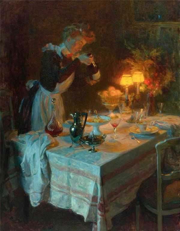 Jules-Alexandre Grün, 1868-1938, French post-impressionist painter, Effet De Lumiere