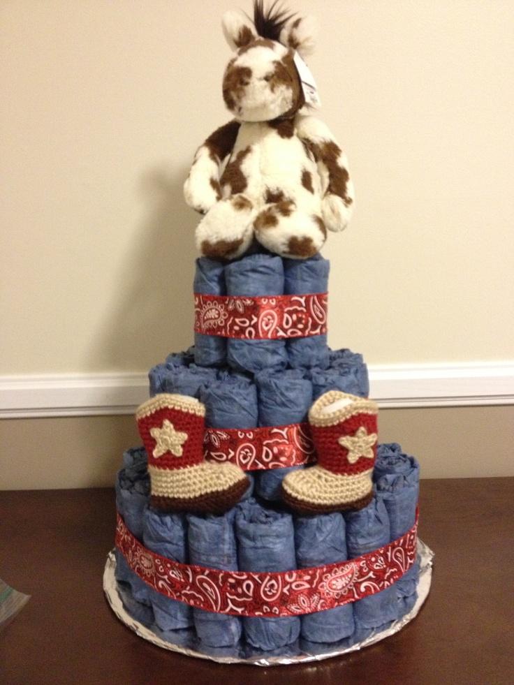 Western diaper cake!   My Pics   Pinterest   Cakes, Diaper ...