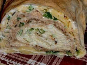 Запеченный рулет из лаваша с грибами и курицей + Еще Рецепты
