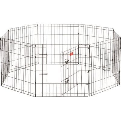 Jewett Cameron Lucky Dog 8 Panel Hd Dog Exercise Pen With Stakes Size: 24""