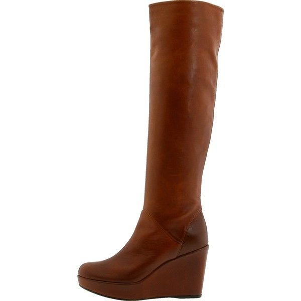 Amazon.com   Stuart Weitzman Women's Tall Leather Boot (7.5, Tan... ❤ liked on Polyvore featuring shoes, boots, wedge boot, wedges, brown knee high boots, wide knee high boots, tall leather boots, wide width knee high boots and tall boots