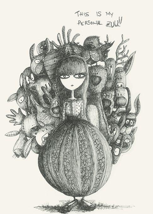 My personal Zuu #animals#drawing#dark by Leo Bellei https://flic.kr/p/DxCPC2
