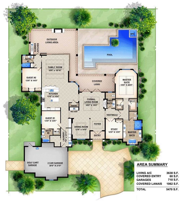 Mediterranean House Plan chp 53016 at COOLhouseplans com