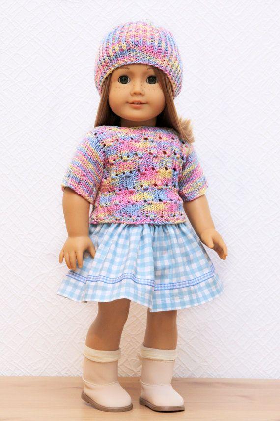 Único American Girl Doll Knitting Patterns Galería - Manta de Tejer ...
