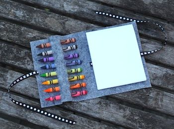 No-Sew Crayon Wrap - Things to Make and Do, Crafts and Activities for Kids - The Crafty Crow