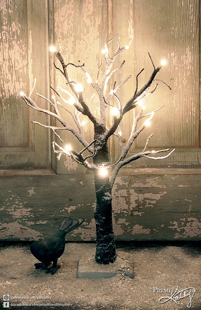 Christmas Decor. Snowy Tree