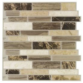 vinyl mosaic scale indoor only peel and stick wall tile common 10 in
