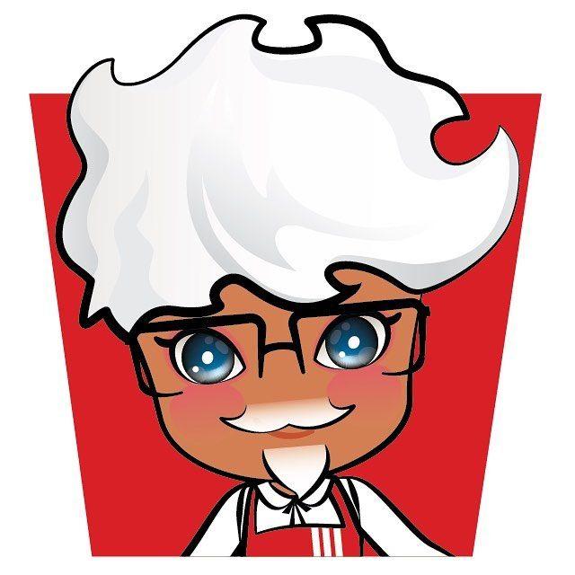 KFC 할아버지나나 KFC grandfather, Nana  . #tingglees #tingglee #nana #kfc #parody #chicken #character #design #팅글리 #나나 #패러디 #치킨 #캐릭터 #디자인