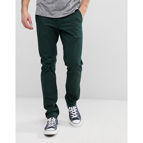 Farah Chino in Slim Fit Stretch Cotton (4.180 RUB) ❤ liked on Polyvore featuring men's fashion, men's clothing, men's pants, men's casual pants, green, mens slim pants, mens chino pants, mens slim dress pants, mens green dress pants and mens green chino pants