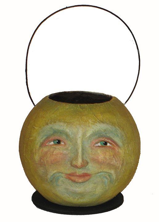 Man in the Moon  a Halloween paper mache lantern