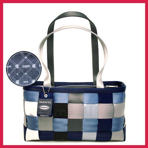 harvey's seatbelt bag: forever blue jean large satchel
