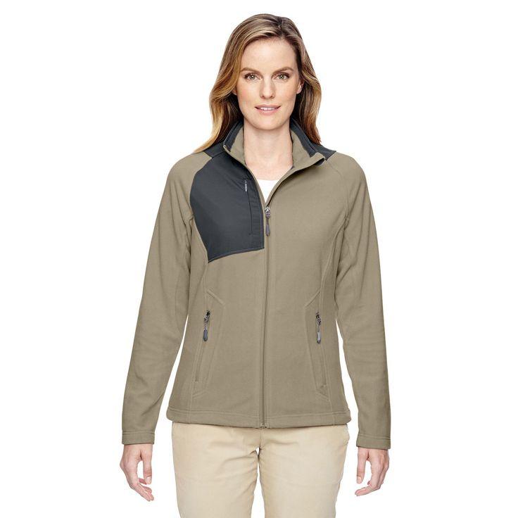Excursion Women's 019 Stone /Green Trail Fabric-block Fleece Jacket