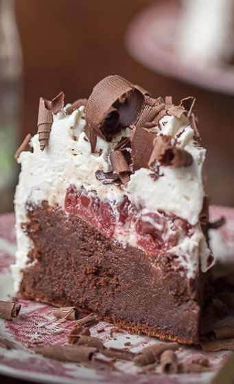 Flourless Black Forest Chocolate Cake--make sure the vanilla and rum are gluten free and you should be all set