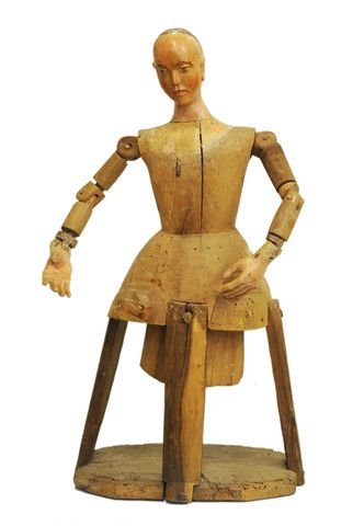 Walnut articulated Santos figure, Spain, 18th century   Kate Thurlow | Gallery Forty One