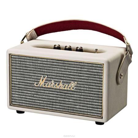 Marshall Kilburn, Cream акустическая система  — 22290 руб. —  The Kilburn – это первая колонка в линейке акустики Marshall, освобожденная от проводов. Небольшая, весом всего в 3 килограмма, она может похвастаться одними из самых громких динамиков в своем классе, которые обеспечивают не только мощный бас, но и широкую звуковую сцену, четкую панораму и детализированное звучание. По традиции устройство выполнено в стиле олдскульных гитарных усилителей: обтянутый винилом корпус, металлическая…