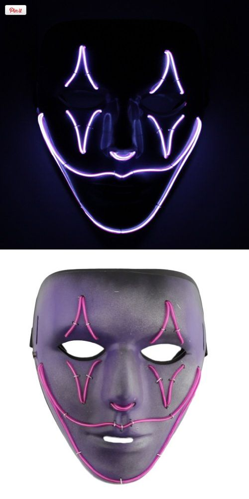 SnowDesigns Purple Jester EL Wire Adult Jabbawockeez Mask, Professionally painted masks with EL Wire by Snow Designs. We have partnered with Snow Designs to create emazing mask designs that not only look great but are very durable. All mask are done 100% by h..., #Apparel, #Masks