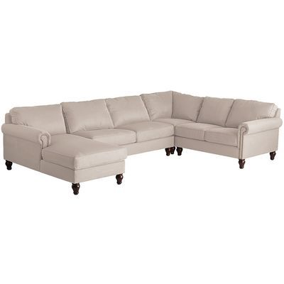 Best Alton Ecru 4 Piece Left Arm Chaise Sectional Sectional 400 x 300