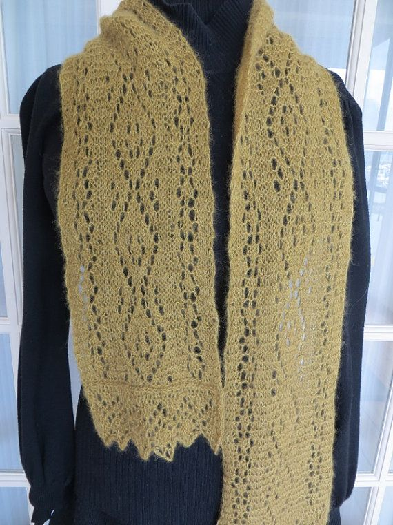 Gold Qiviut Scarf by ClassicQiviut on Etsy