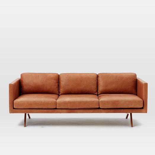 Brooklyn Leather Sofa West Elm Geyserville Pinterest