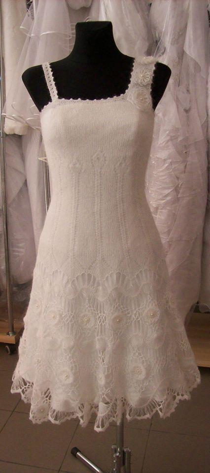 Knitted wedding dress