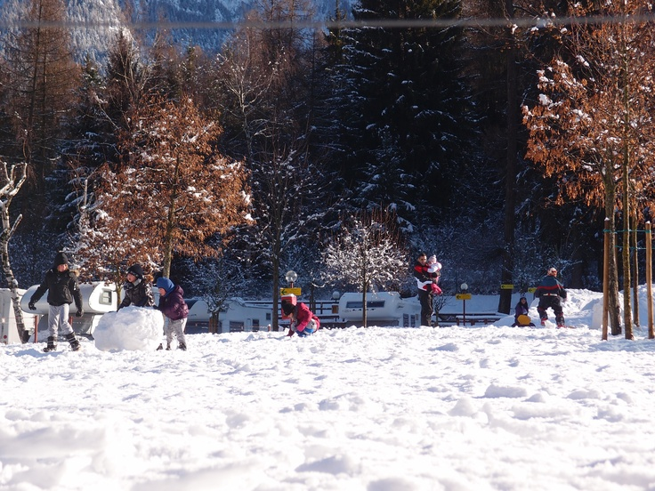 The snow paradise for the children at the Dolomiti Camping Village & Wellness Resort - Italy
