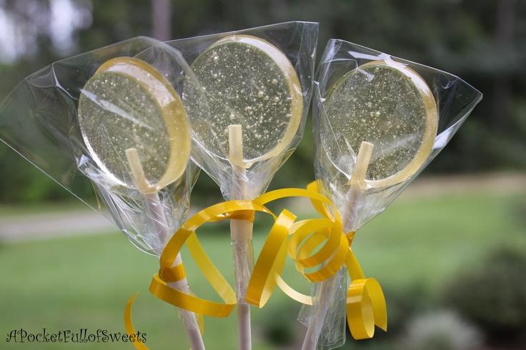 Lemon Meringue 100% ALL NATURAL Barley Sugar Hard Candy Homemade lollipops suckers. $18.99, via Etsy.