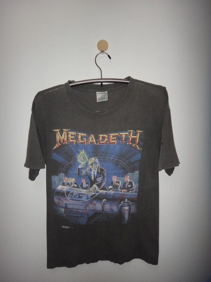 Vintage Megadeth Rust in Peace 1990 World Concert Tour T Shirt Albany New York  #Brockum #GraphicTee