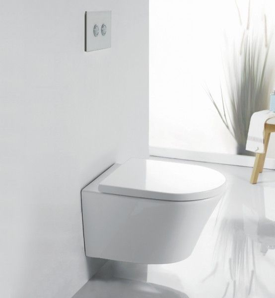 Spülrandloses WC 1088R inkl. Softclose Deckel