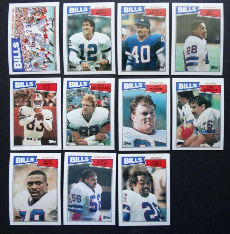 1987 topps buffalo bills team set of 11 football cards
