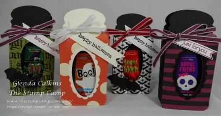 Mini Hand Sanitizer's in a Jar: Cards Halloween Fall, Halloween Group, Halloween Cards Gifts, Gift Ideas, Cards Stampin Ideas, Halloween Gifts, Paper Crafting, Paper Crafts, 3D Crafts