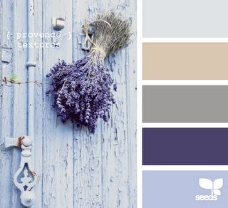 gray and purple; here ya go sissa. These are great colors for you room