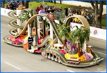 See the Rose Parade floats up close