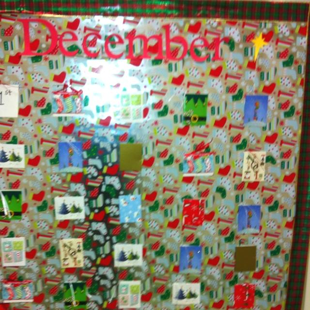 Advent Calendar Bulletin Board : Advent calendar bulletin board education pinterest