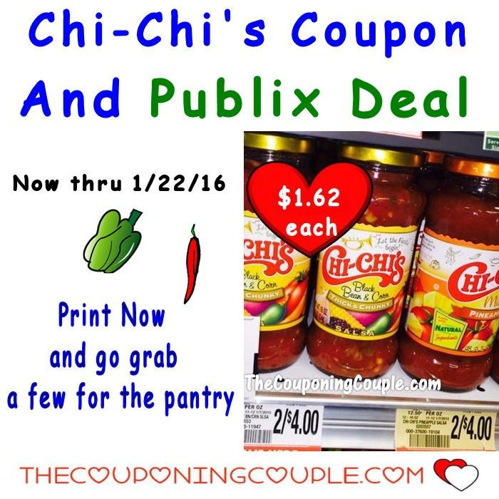 Chi-Chi's Coupon to Go With Publix Sale now through 1/22. Print Now and go grab some. I love having this salsa on hand for snacking and to use with meals.**  Click the link below to get all of the details ► http://www.thecouponingcouple.com/chi-chis-coupon-to-go-with-publix-sale-print-now/ #Coupons #Couponing #CouponCommunity  Visit us at http://www.thecouponingcouple.com for more great posts!