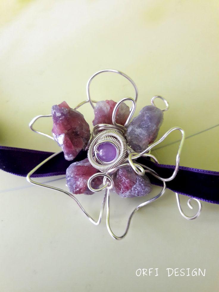 tourmaline flower...wire jewelry