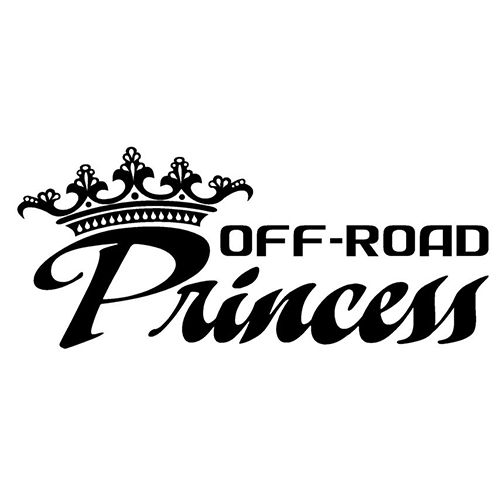 Off road princess laptop car truck vinyl decal window sticker