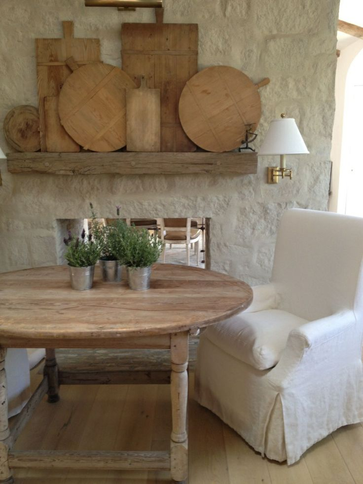 Natural with white eating area...Patina Farms