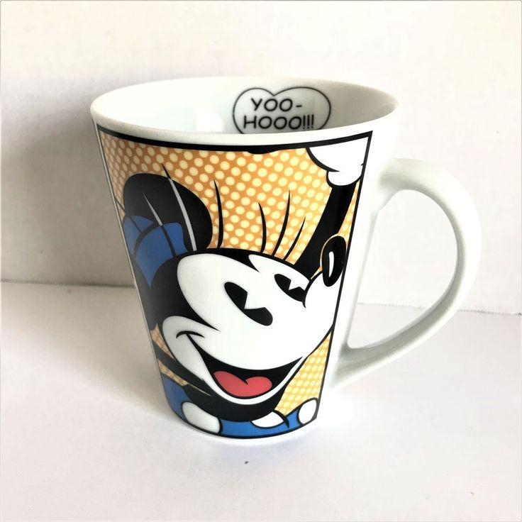 Disney Minnie Mouse YooHoo Yellow Red Blue White Ceramic Tea Coffee Mug Cup #Disney
