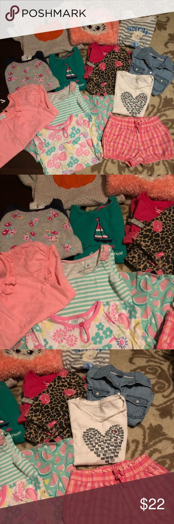 3t-4t • Bundle • Girls Items Mostly a bundle of 3t items. Some 4t mixed in that fits like a 3t. Two dresses, 6 long sleeve tops, 3 t shirts, one pair of shorts, one pair of pants. Some items are Gymboree, Carter's and more! Others are not name brand. All except two items are in EUC, just adding them in.   Tags: kids, girls, clothes, bundles, Gymboree, Carter's. Gymboree Shirts & Tops Tees - Long Sleeve