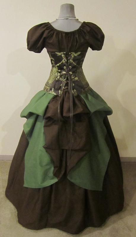 corset fabric    Imperial Court Corset Set Steampunk - renaissance clothing, medieval, costume