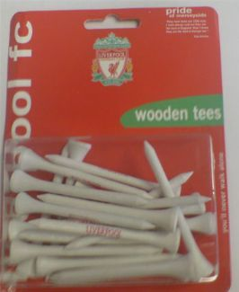 Premiership Football LIVERPOOL FC WOODEN TEES 70MM LIVERPOOL FC WOODEN TEES Support your favourite football team with these officially licensed Premier League Football Club Wooden Tees.The Liverpool FC Wooden Tees Feature: Officially badged Liverpool  http://www.comparestoreprices.co.uk/golf-balls-and-other-equipment/premiership-football-liverpool-fc-wooden-tees-70mm.asp