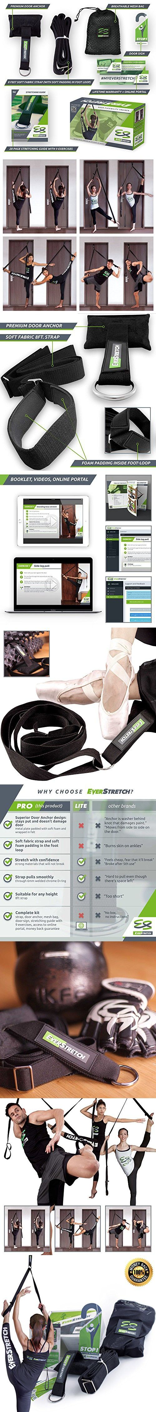 Leg Stretcher: Get More Flexible With This Door Flexibility Trainer by EverStretch: Premium stretching equipment for ballet, dance, MMA, taekwondo & gymnastics. Your own portable stretch machine!