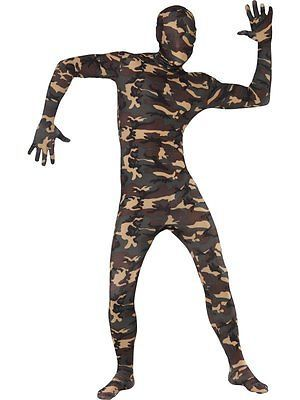 Mens camouflage second skin #adult full body lycra suit army #fancy #dress costum,  View more on the LINK: 	http://www.zeppy.io/product/gb/2/190811996973/