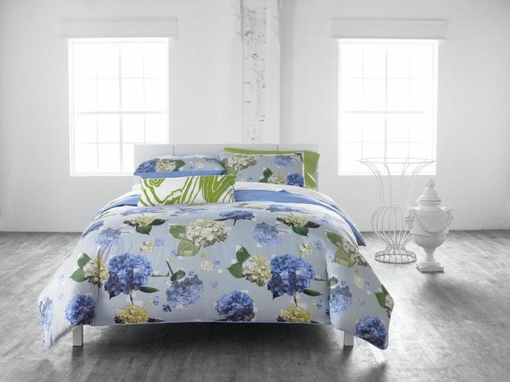 Pantone Digital Hydrangea Duvet  Blissful Bedding  Home