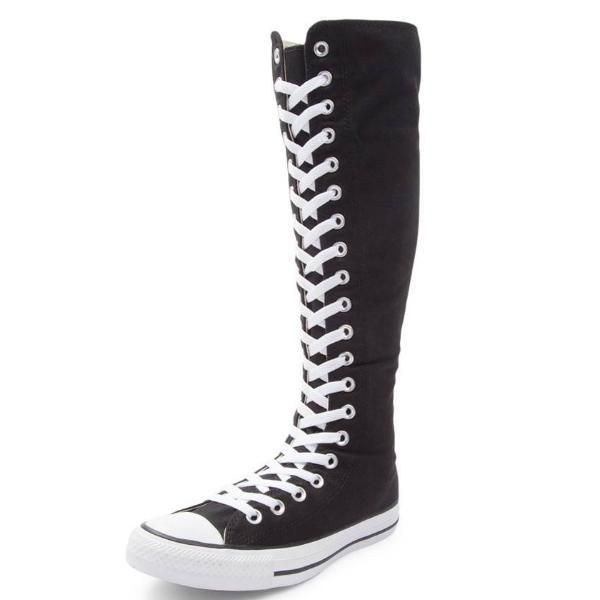 Knee High Lace up bling Converse