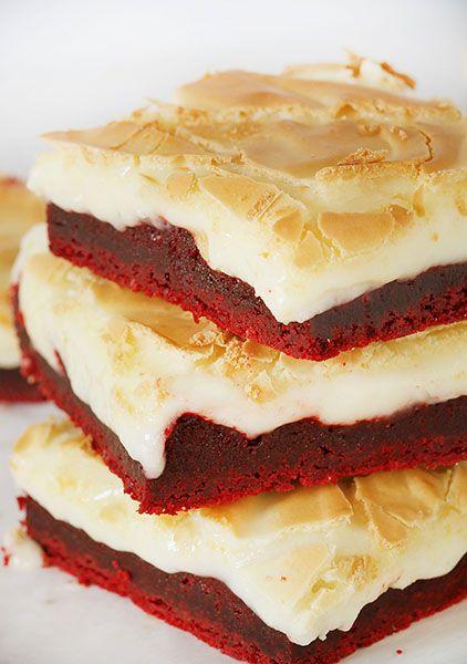 Red Velvet Gooey Butter Cake ~ http://iambaker.net