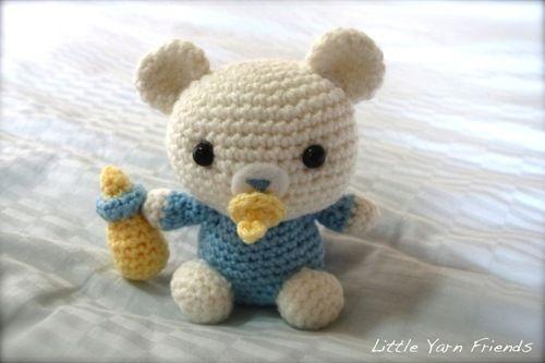 Patrón Crochet: Lil 'Baby Bear ✭Teresa Restegui http://www.pinterest.com/teretegui/ ✭